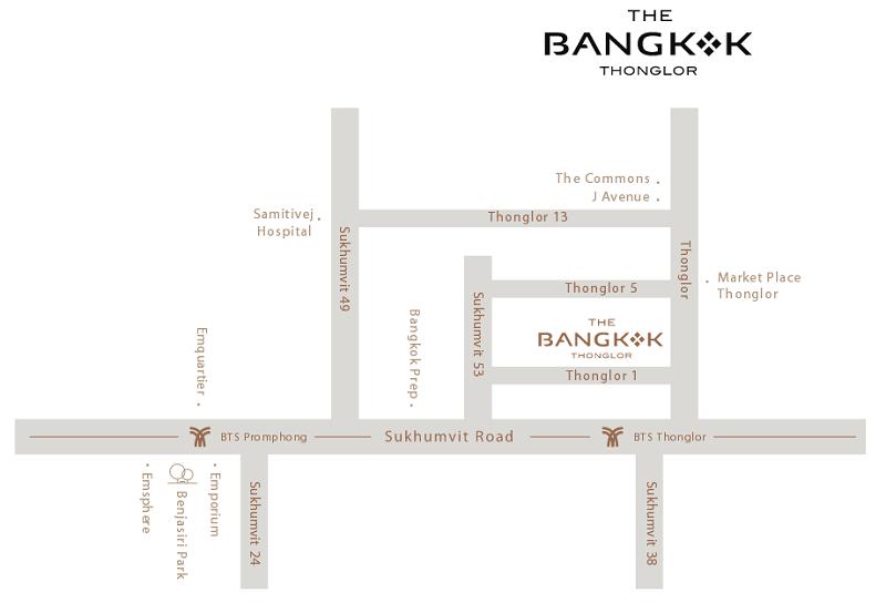 Map The Bangkok Thonglor