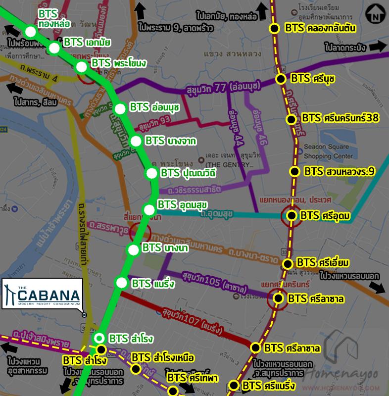 The Cabana BTS map