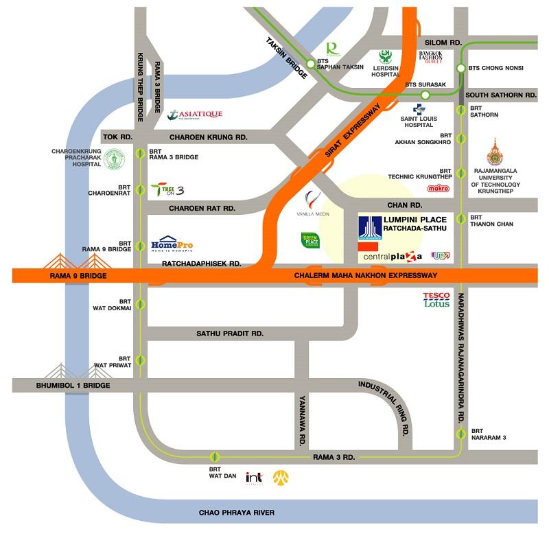 map-Lumpini Place Ratchada-Sathu