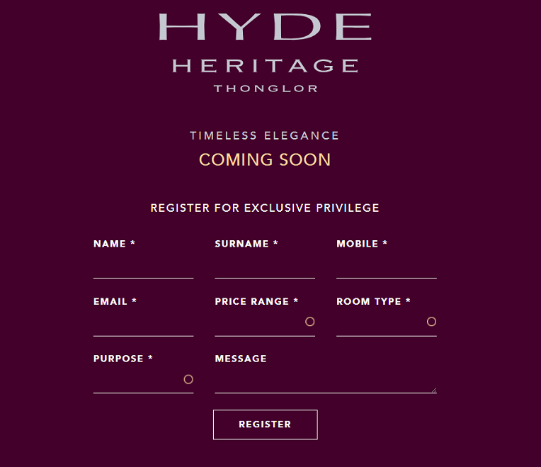 HYDE Heritage THONGLOR REGISTER