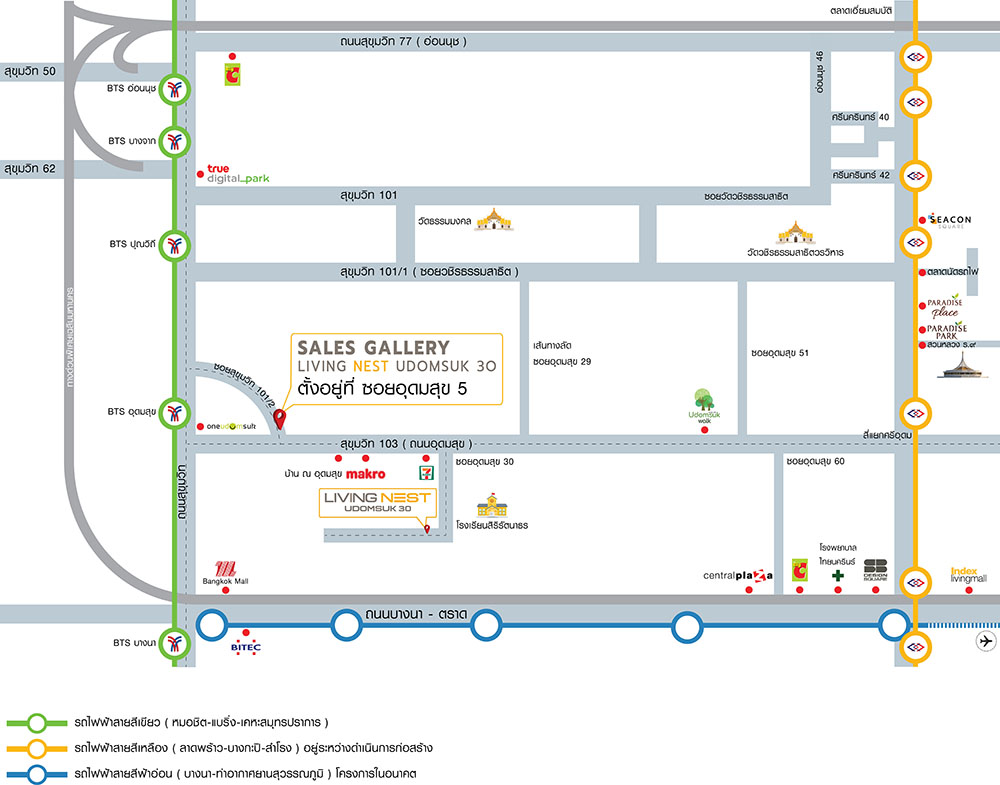 Map Udomsuk 30