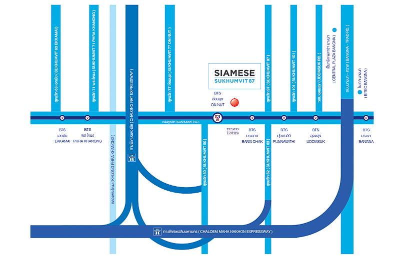 Siamese Sukhumvit48-map