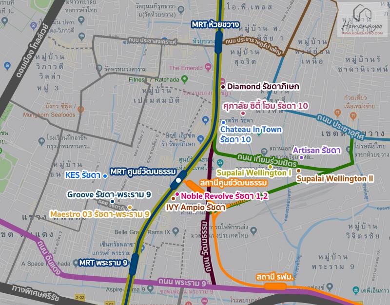 condo MRT Thailand Cultural Centre