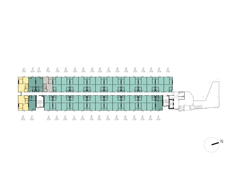 1cxxxTower A Master Plan 2nd Floor Plan
