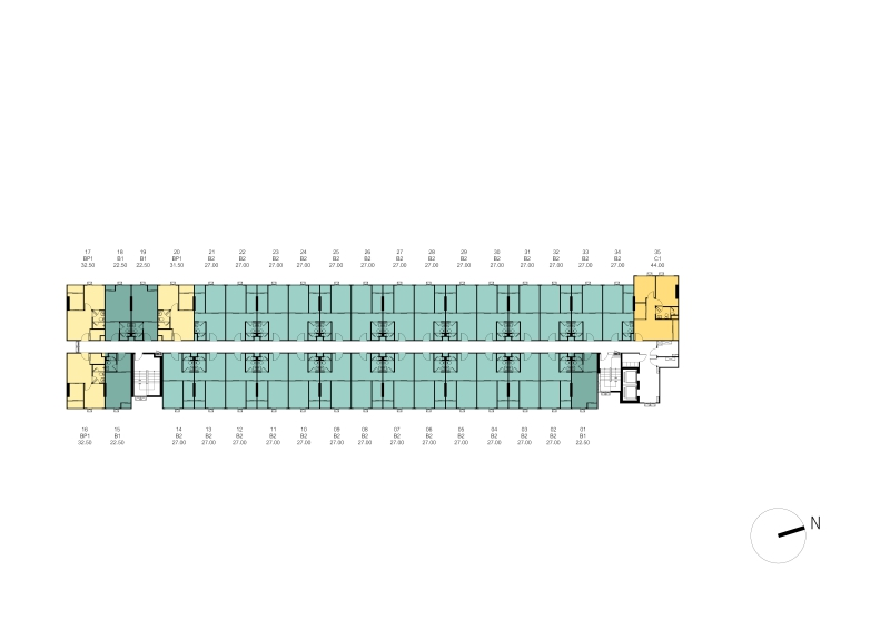 1cxxxTower A Master Plan 4th - 8th Floor Plan