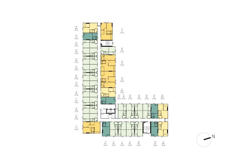 1cxxxTower B Master Plan 2nd - 8th Floor Plan