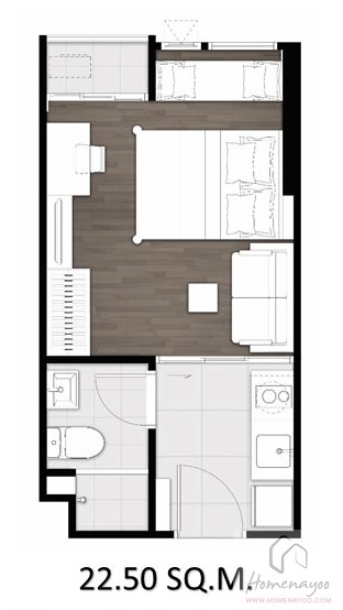 1 bed 22.5