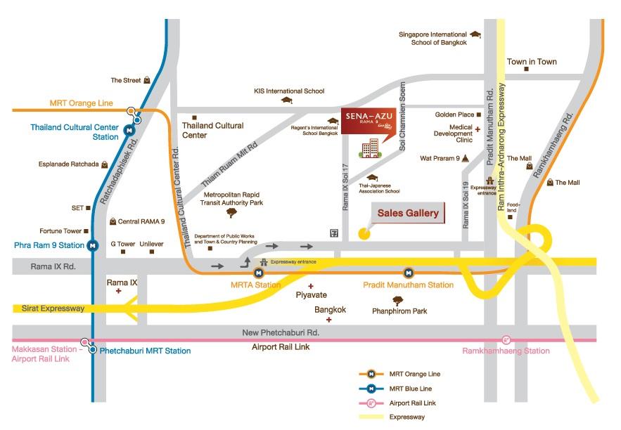map Sena Azu Rama 9