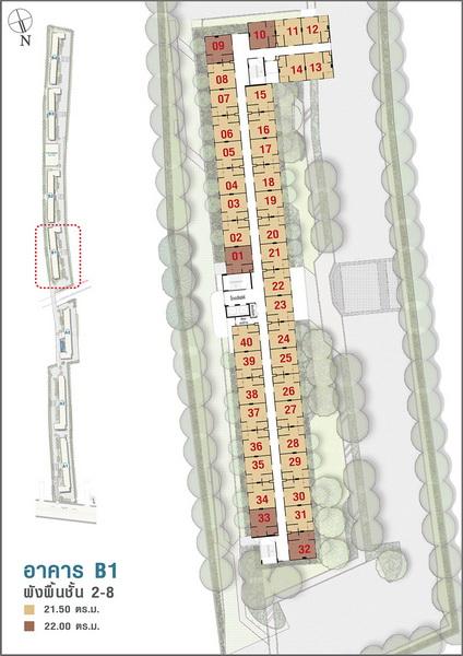 อาคาร B1 ชั้น 2-8